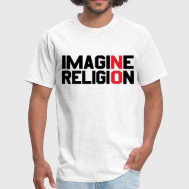 Imagine No Religion Atheist cool free thinker athe - Men's T-Shirt