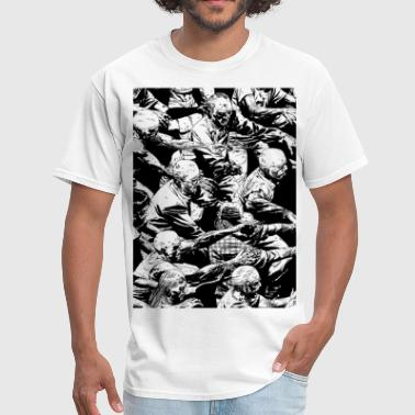 Zombie Hoard Black and white - Men's T-Shirt