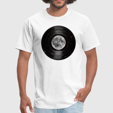Outer Space Music Moon In Space Vinyl LP Record - Men's T-Shirt