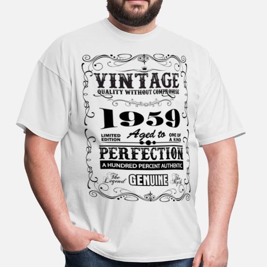 8993f9f33 Premium Vintage 1959 Aged To Perfection - Men's T-Shirt. Back. Back.  Design. Front. Front
