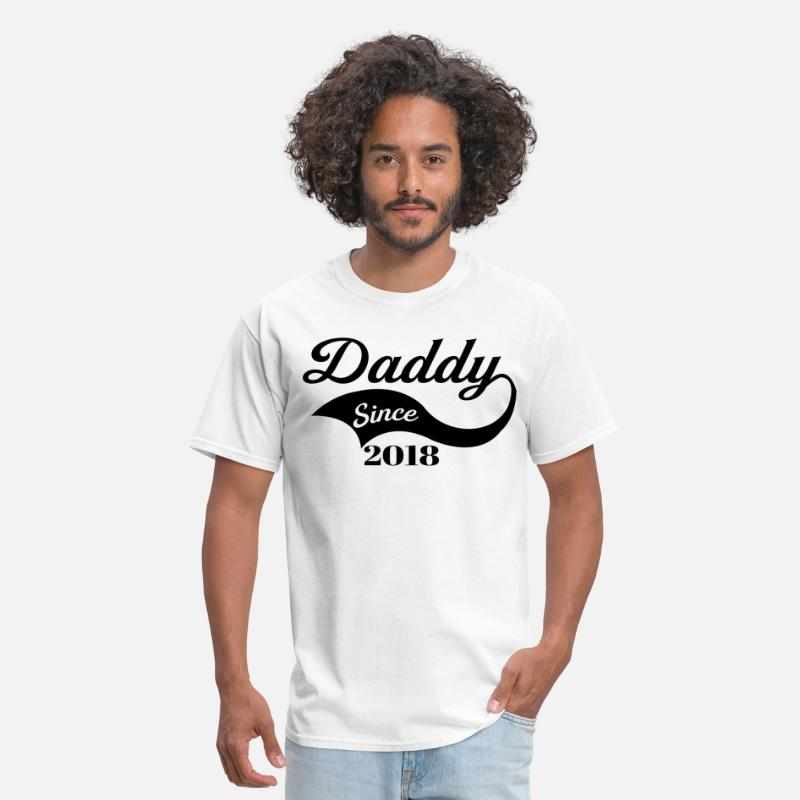 2018 T-Shirts - Daddy Since 2018 - Men's T-Shirt white