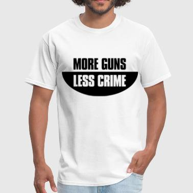 More guns less crime - Men's T-Shirt