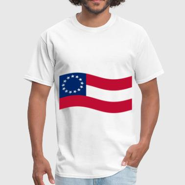 Waving 1st Confederate Flag - Men's T-Shirt