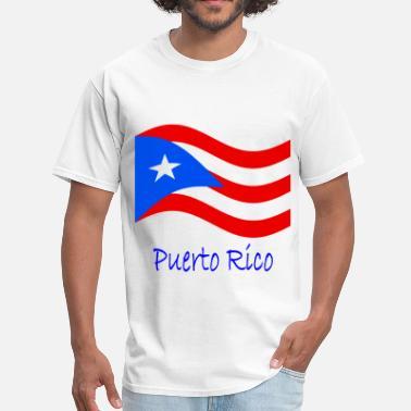 ecfd6b0521b4 Waving Puerto Rico Flag And Name - Men's ...