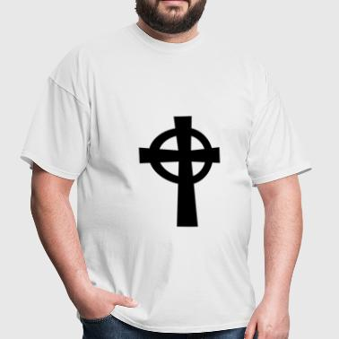 Catholic Celtic Cross Symbol - Men's T-Shirt