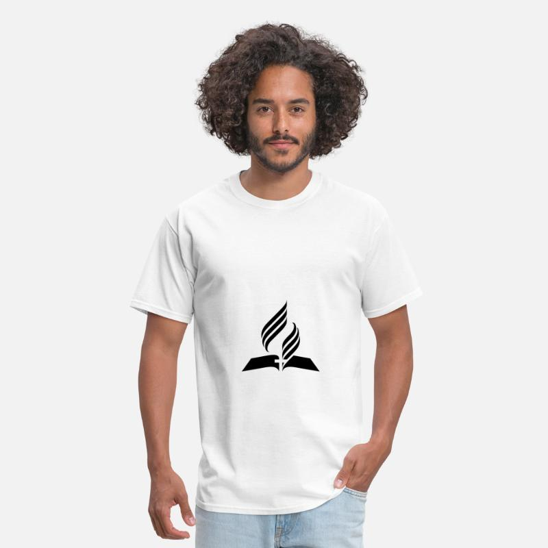 Christian T-Shirts - 7th Day Adventist Symbol - Men's T-Shirt white