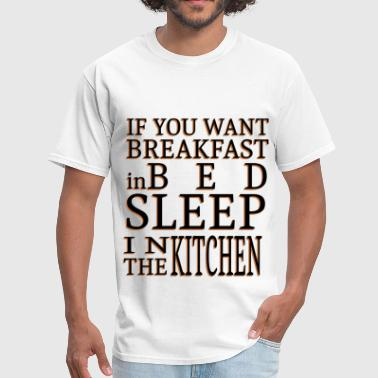 Breakfast in Bed - Men's T-Shirt