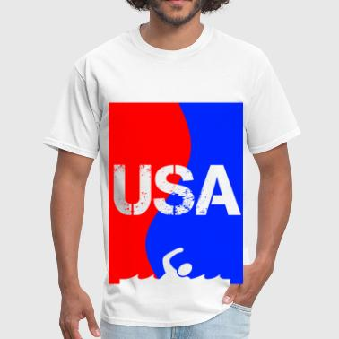 Usa Swimming USA SWIMMING transparent - Men's T-Shirt