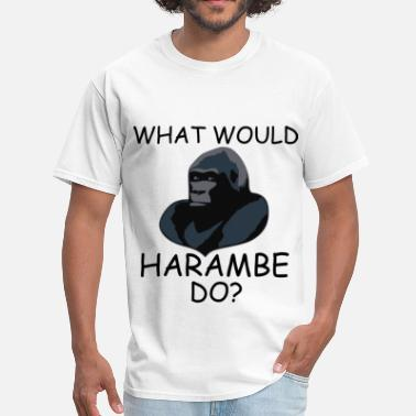 Rip Jesus What Would Harambe Do? - Men's T-Shirt