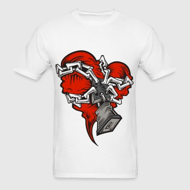 Chained Heart - Men's T-Shirt