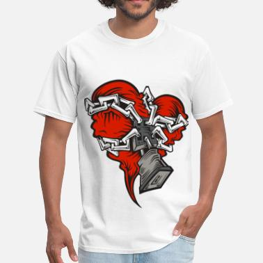 Lock Chain Chained Heart - Men's T-Shirt