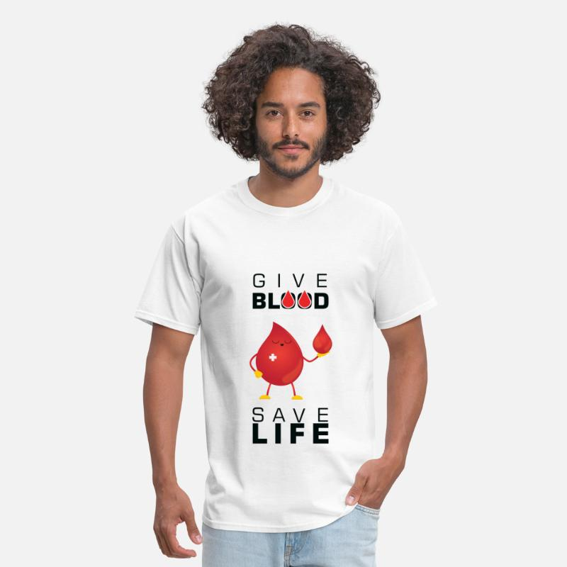Blood T-Shirts - Blood donation - Give blood save life - Men's T-Shirt white