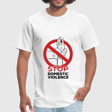 Domestic violence - Stop domestic violence - Men's T-Shirt