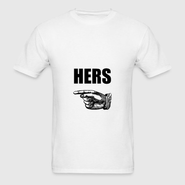 Hers Marriage Husband Wif - Men's T-Shirt