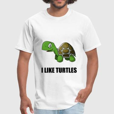 Turtle Apparel I Like Turtles - Men's T-Shirt