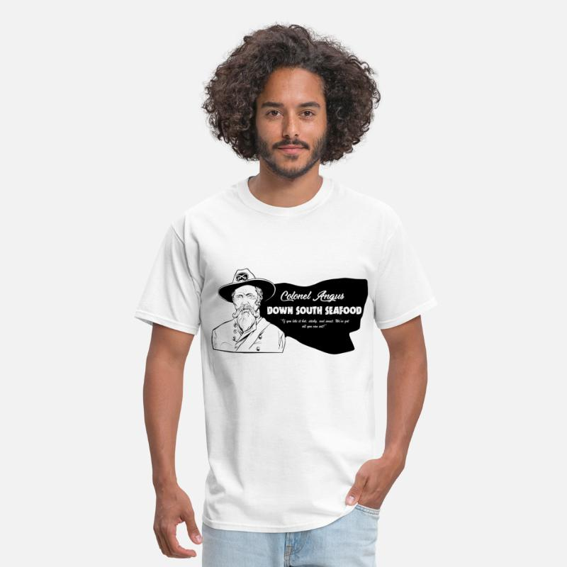 Cunnilingus T-Shirts - Colonel Angus Down South Seafood - Men's T-Shirt white