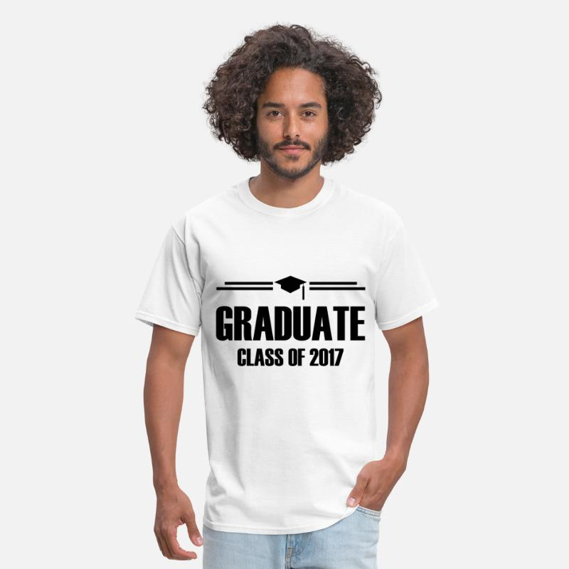 2017 T-Shirts - GRADUATE CLASS OF 2017 1.png - Men's T-Shirt white
