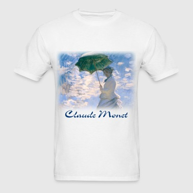 claude_monet__the_promenade_detail - Men's T-Shirt