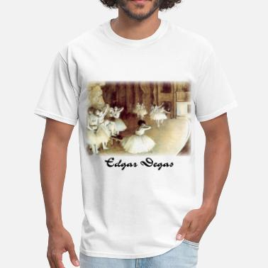 Nude Theater edgar_degas__rehearsal_on_stage - Men's T-Shirt