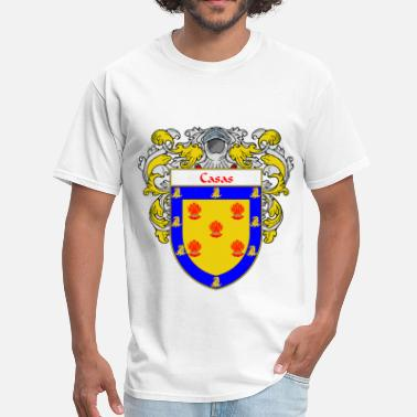 Apellido casas_coat_of_arms_mantled - Men's T-Shirt