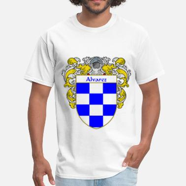 Apellido alvarez_coat_of_arms_mantled - Men's T-Shirt