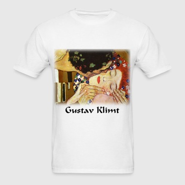 gustav_klimt__the_kiss - Men's T-Shirt