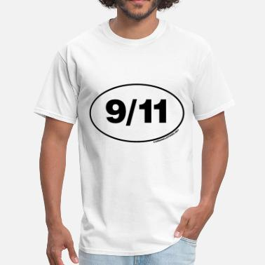 World Trade Center Twin Towers 9/11 Remember Oval - Men's T-Shirt