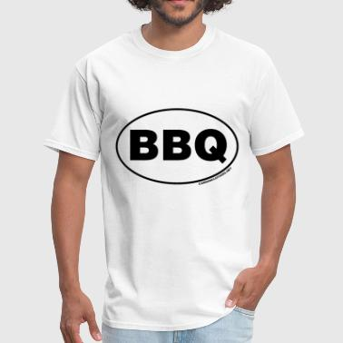 Oval BBQ Oval - Men's T-Shirt
