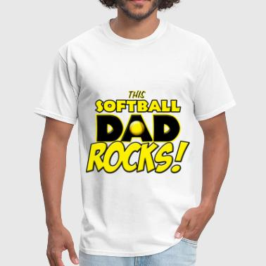 This Softball Dad Rocks - Men's T-Shirt