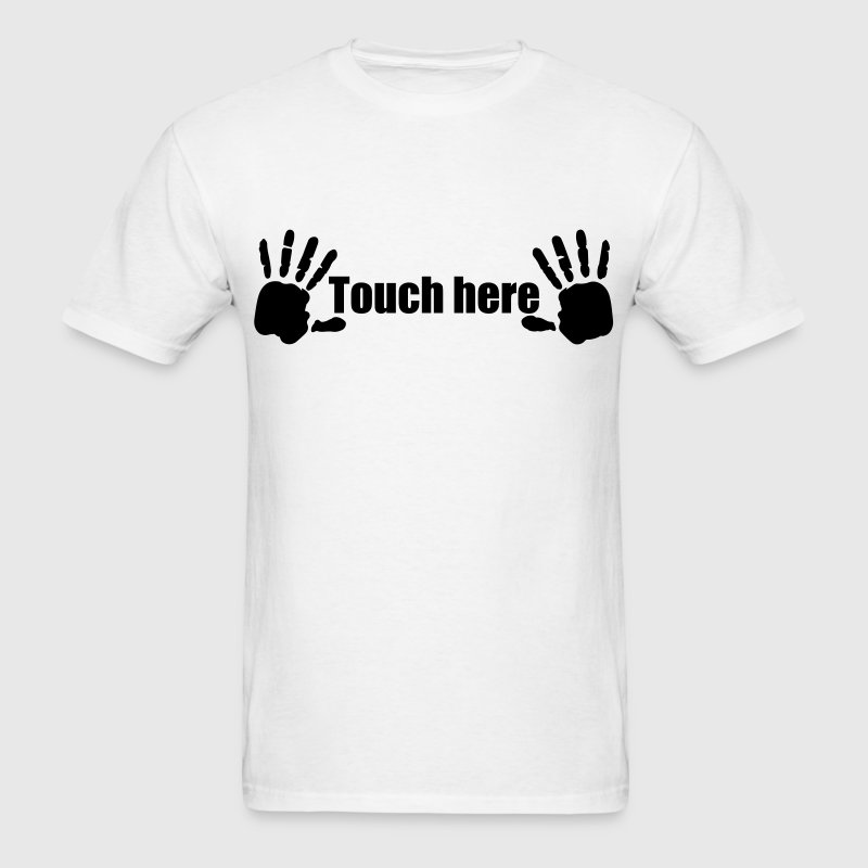 Hands here Touch here Hand Print 1c - Men's T-Shirt