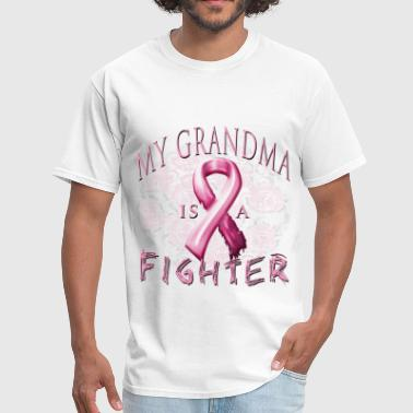 Breast Cancer Awareness My Grandma Is A Fighter - Men's T-Shirt