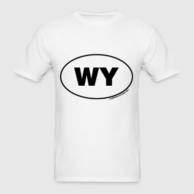 WY Wyoming - Men's T-Shirt