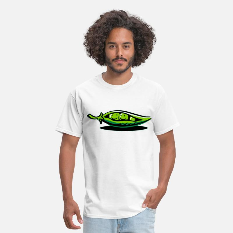 Pod T-Shirts - Two Peas In A Pod - Men's T-Shirt white
