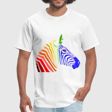 Zebra; Punk Zebra; Rainbow Zebra - Men's T-Shirt