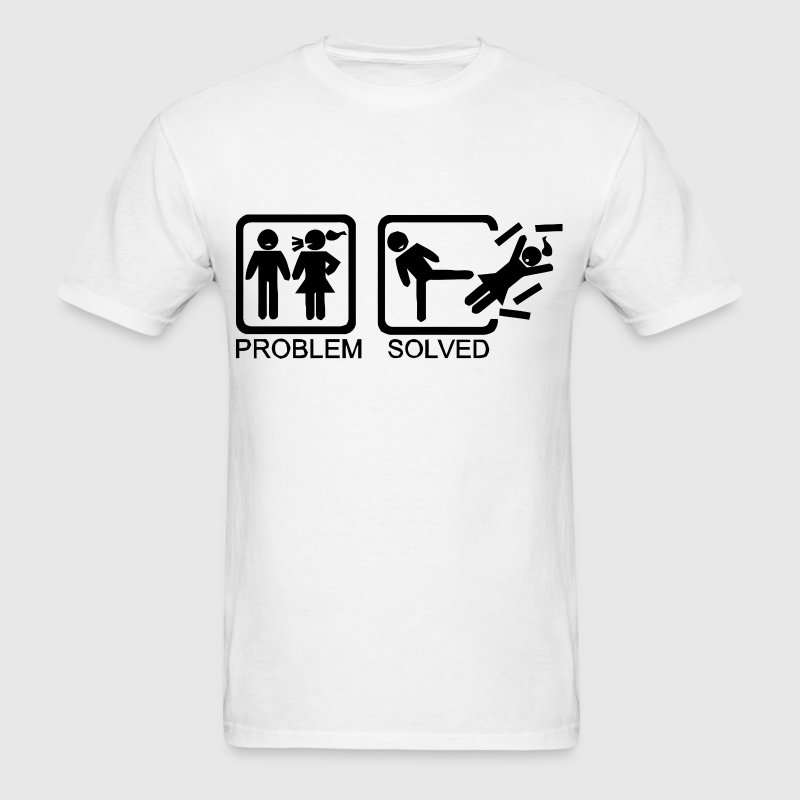 Problem solved - Being single is better - Men's T-Shirt