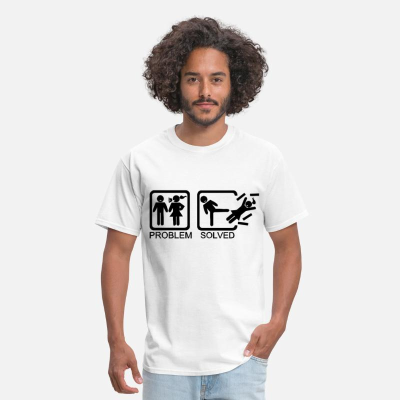 Breakup T-Shirts - Problem solved - Being single is better - Men's T-Shirt white