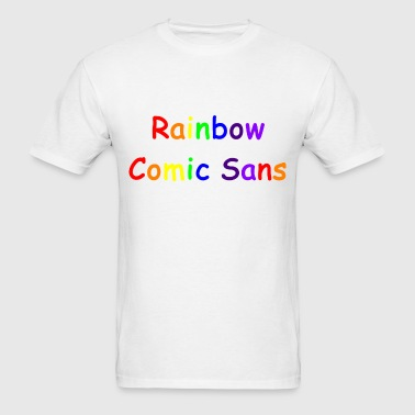 Rainbow Comic Sans - Men's T-Shirt