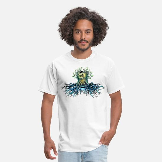 Nature T-Shirts - root of tree - Men's T-Shirt white