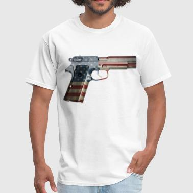 AMERICAN FLAG PISTOL - Men's T-Shirt