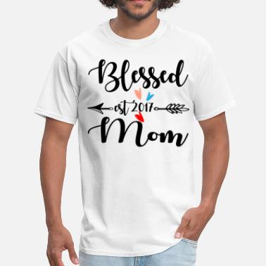 Blessed Mom Blessed Mom Est.2017 - Men's T-Shirt