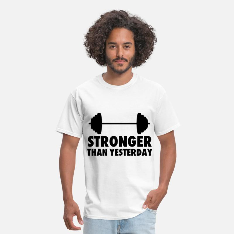 Yesterday T-Shirts - Stronger Than Yesterday - Men's T-Shirt white