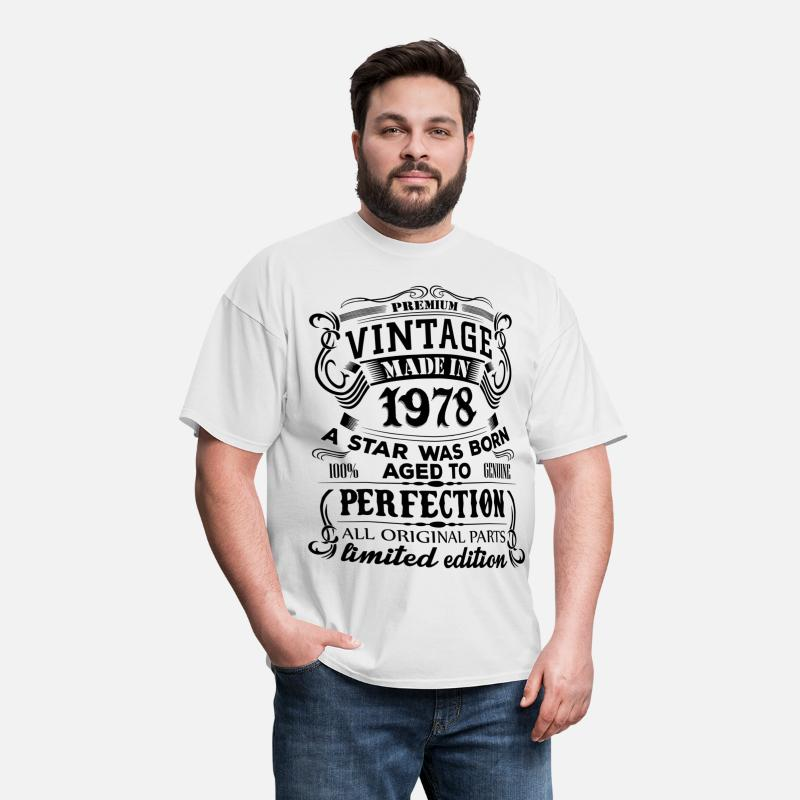 Aged To Perfection T-Shirts - Vintage 1978 - Men's T-Shirt white