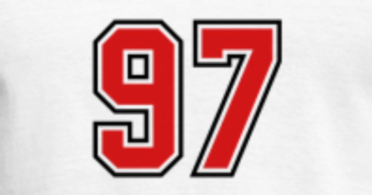 97 Sports Jersey Football Number By Teesontap