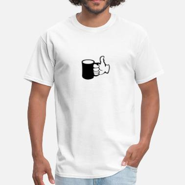 Cartoon Thumbs Up Mug Thumbs Up - Men's T-Shirt