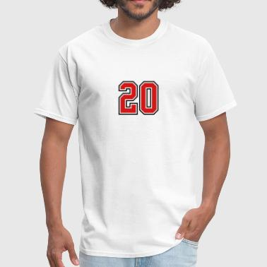Footballer 20 sports jersey football number - Men's T-Shirt