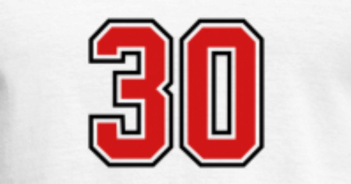 30 Sports Jersey Football Number By Teesontap Spreadshirt