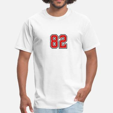 Number 82 82 sports jersey football number - Men's T-Shirt