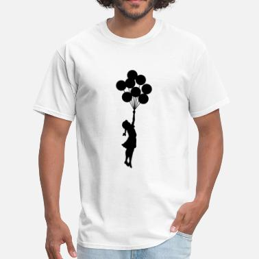 Balloon Artist Banksy Girl with Balloons - Men's T-Shirt