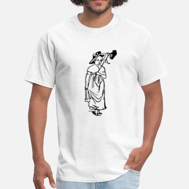 Retro Girl With Flower - Men's T-Shirt