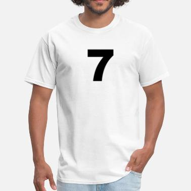 Number 7 number - 7 - seven - Men's T-Shirt